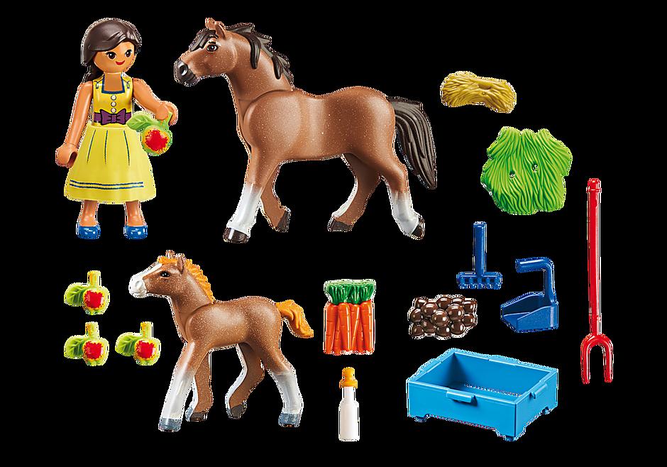 70122 Pru mit Pferd und Fohlen detail image 3