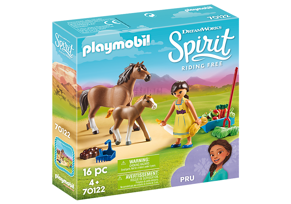 http://media.playmobil.com/i/playmobil/70122_product_box_front/H Πρου με άλογο και πουλάρι