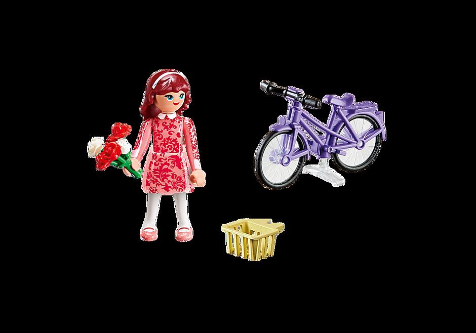 70124 Maricela met fiets detail image 3