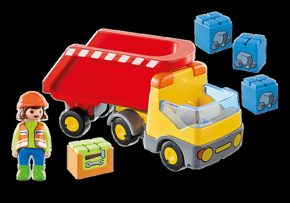 70126 Ανατρεπόμενο Φορτηγό με εργάτη detail image 3
