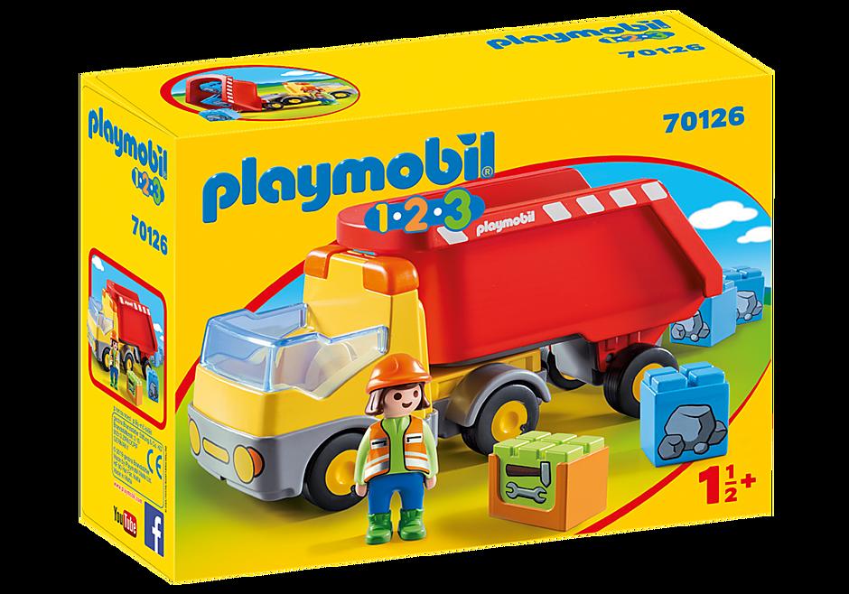 70126 Ανατρεπόμενο Φορτηγό με εργάτη detail image 2