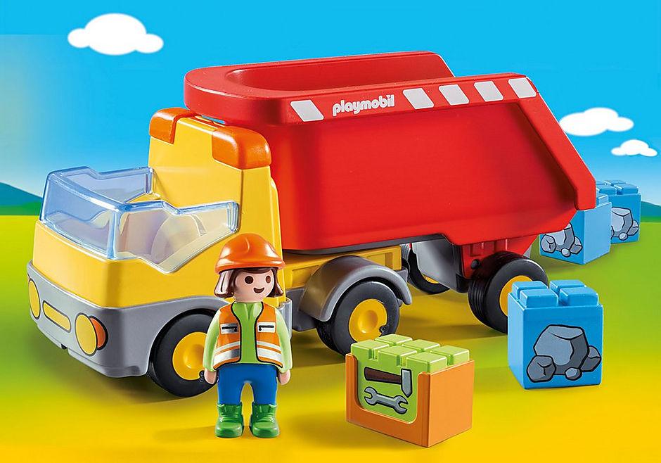 70126 Ανατρεπόμενο Φορτηγό με εργάτη detail image 1