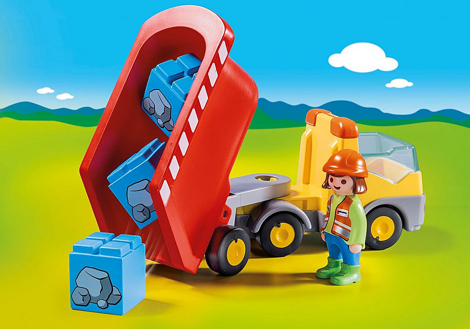 70126 Ανατρεπόμενο Φορτηγό με εργάτη detail image 4