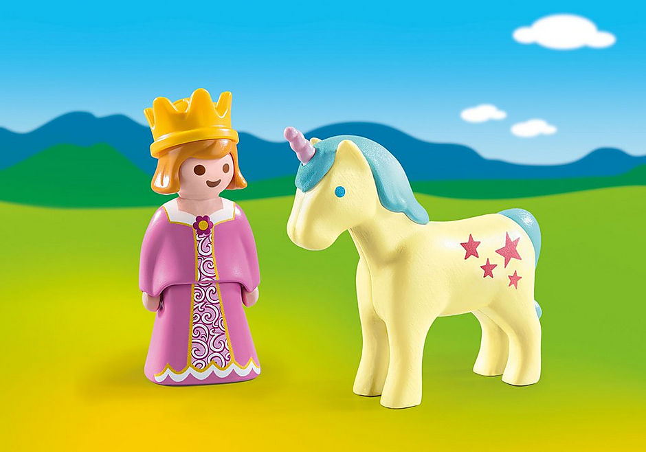 70127 1.2.3 Princesa con Unicornio detail image 1