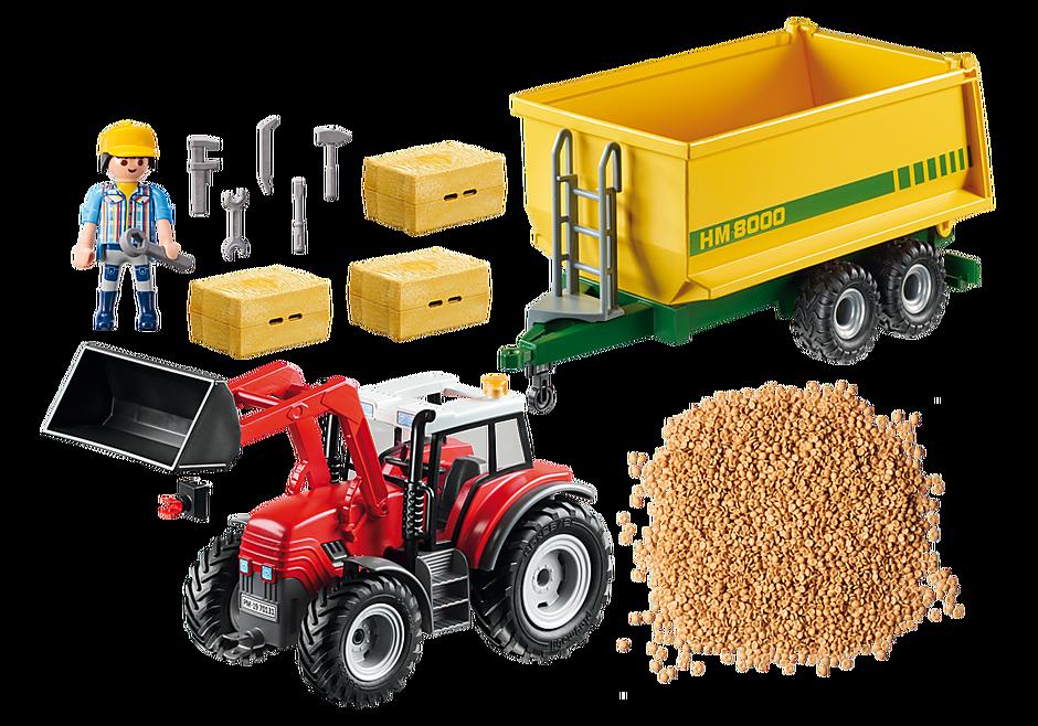 70131 Grote tractor met aanhangwagen detail image 3