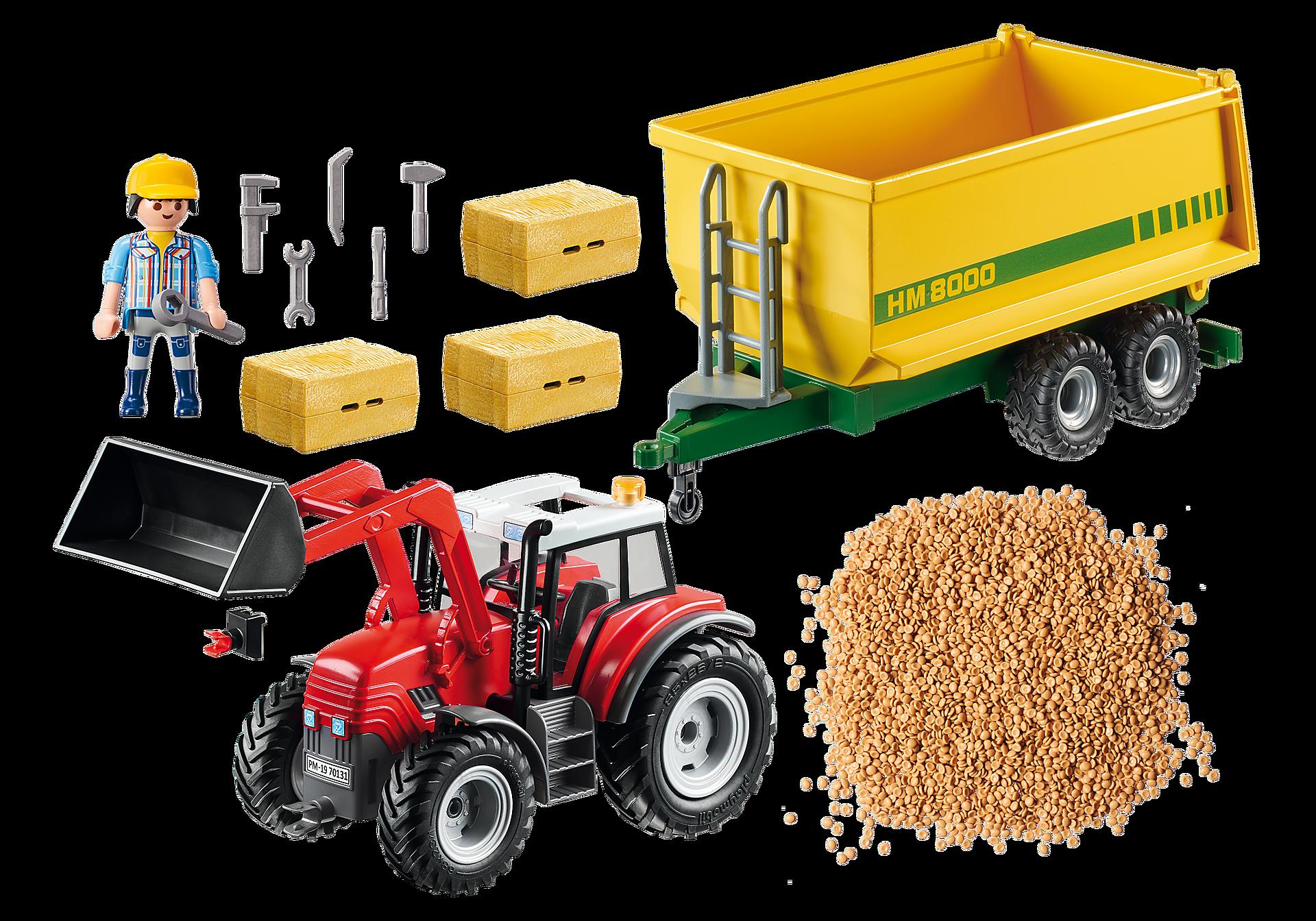 70131 Grote tractor met aanhangwagen zoom image3