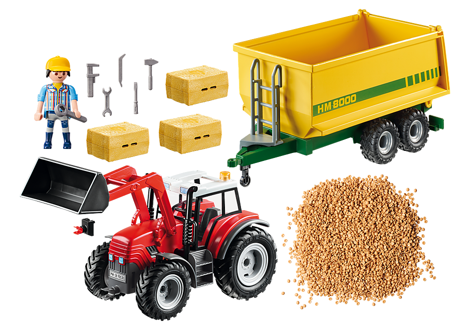 70131 Tractor with Feed Trailer detail image 3