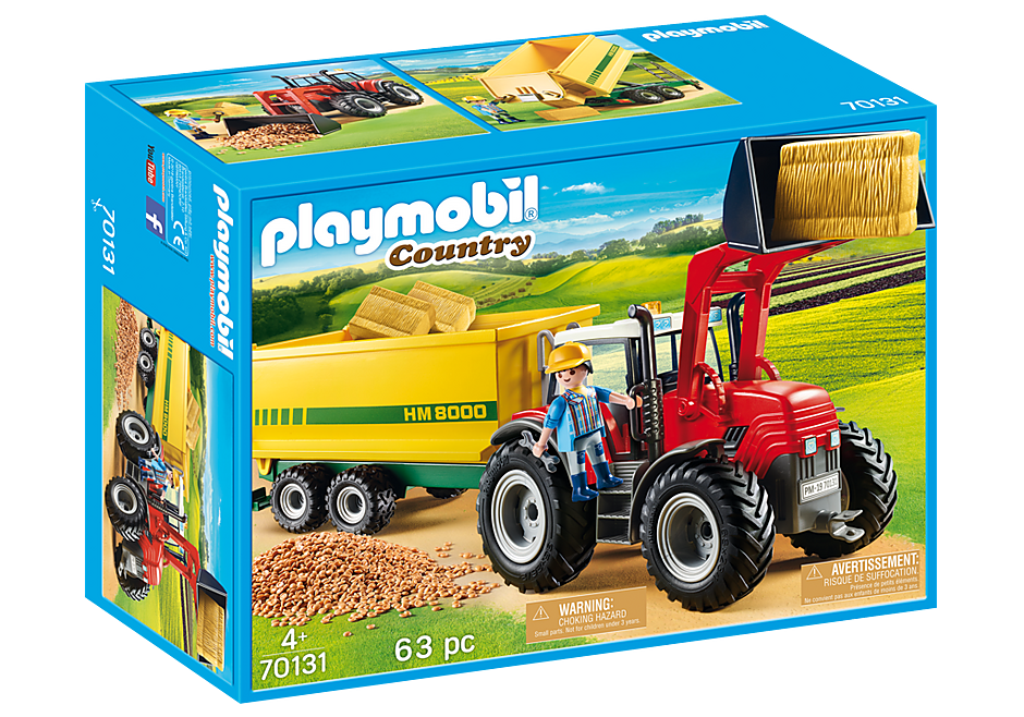 70131 Grote tractor met aanhangwagen detail image 2