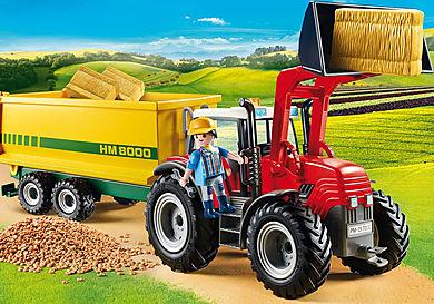 70131 Duży traktor z przyczepą