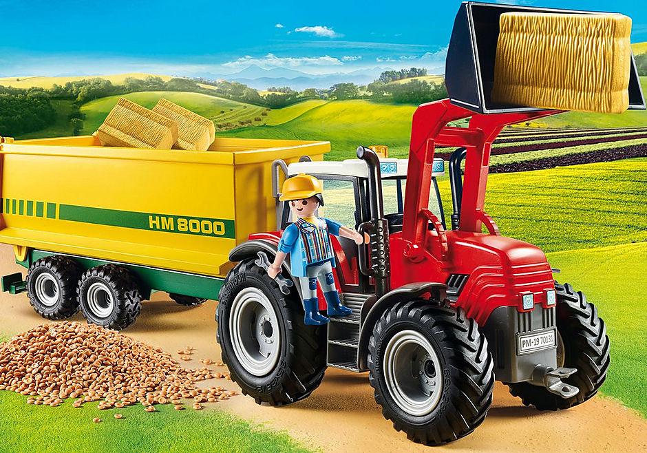 70131 Grote tractor met aanhangwagen detail image 1