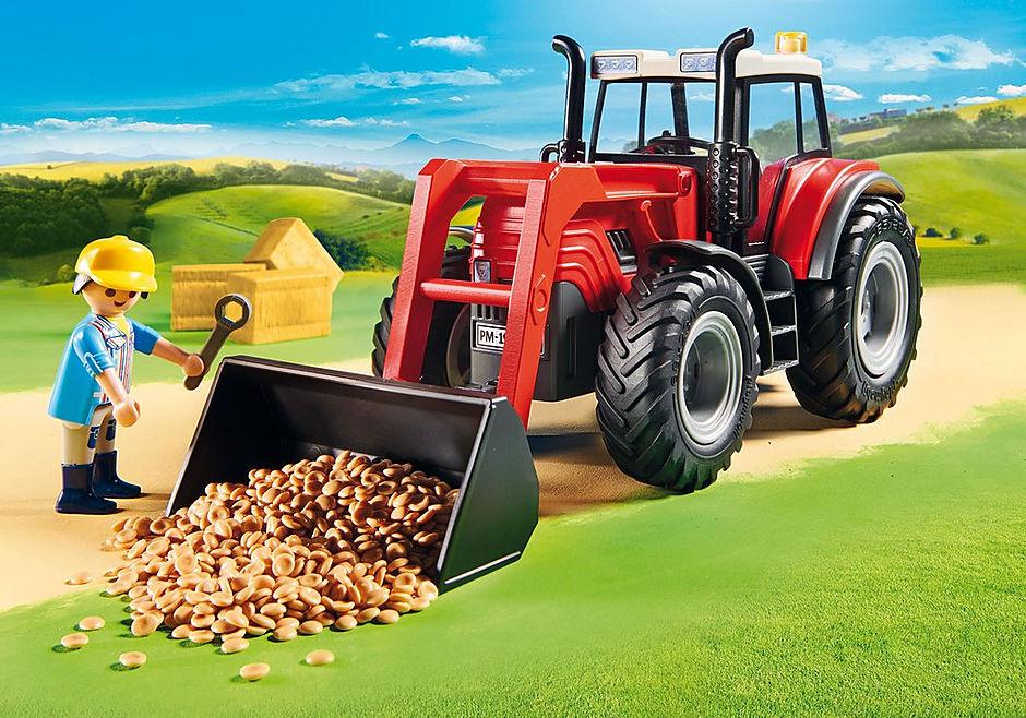 http://media.playmobil.com/i/playmobil/70131_product_extra1/Grote tractor met aanhangwagen