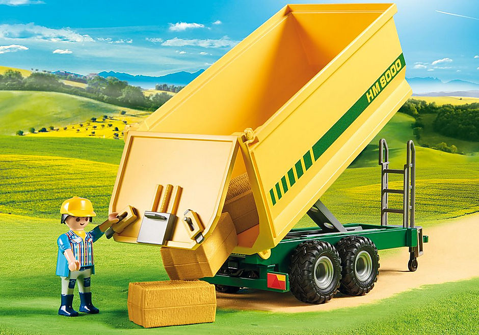 70131 Duży traktor z przyczepą detail image 5