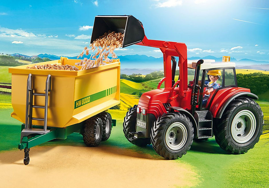 70131 Grote tractor met aanhangwagen detail image 6