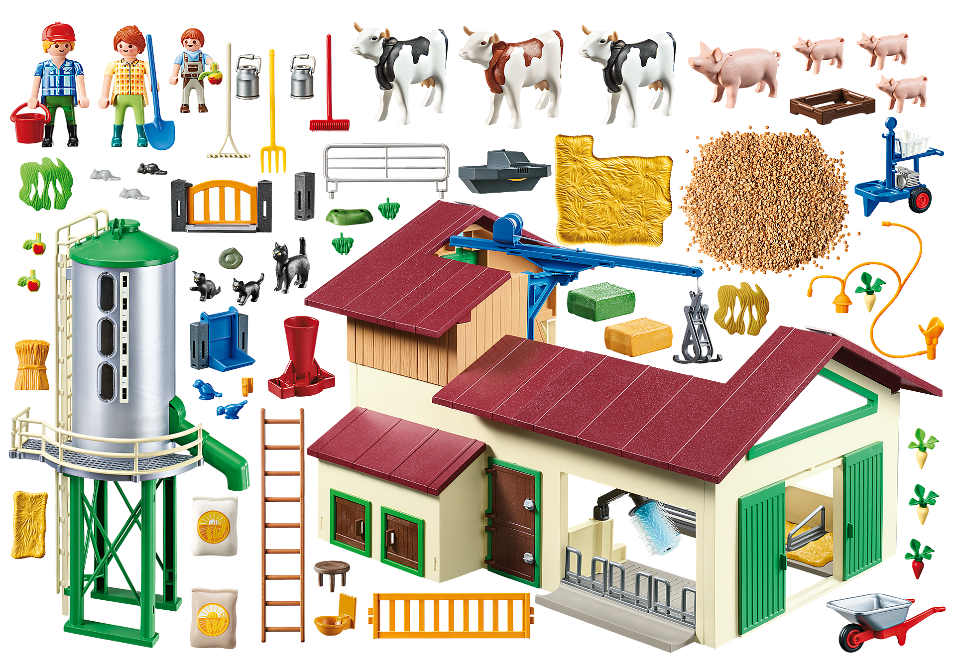 70132 Großer Bauernhof mit Silo zoom image4