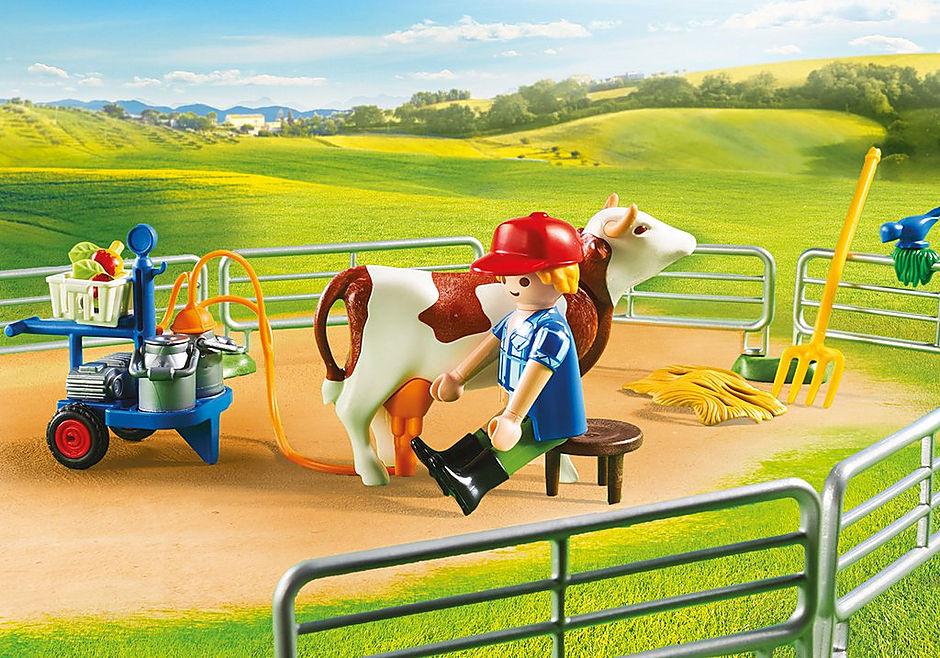 70132 Grande ferme avec silo et animaux detail image 5