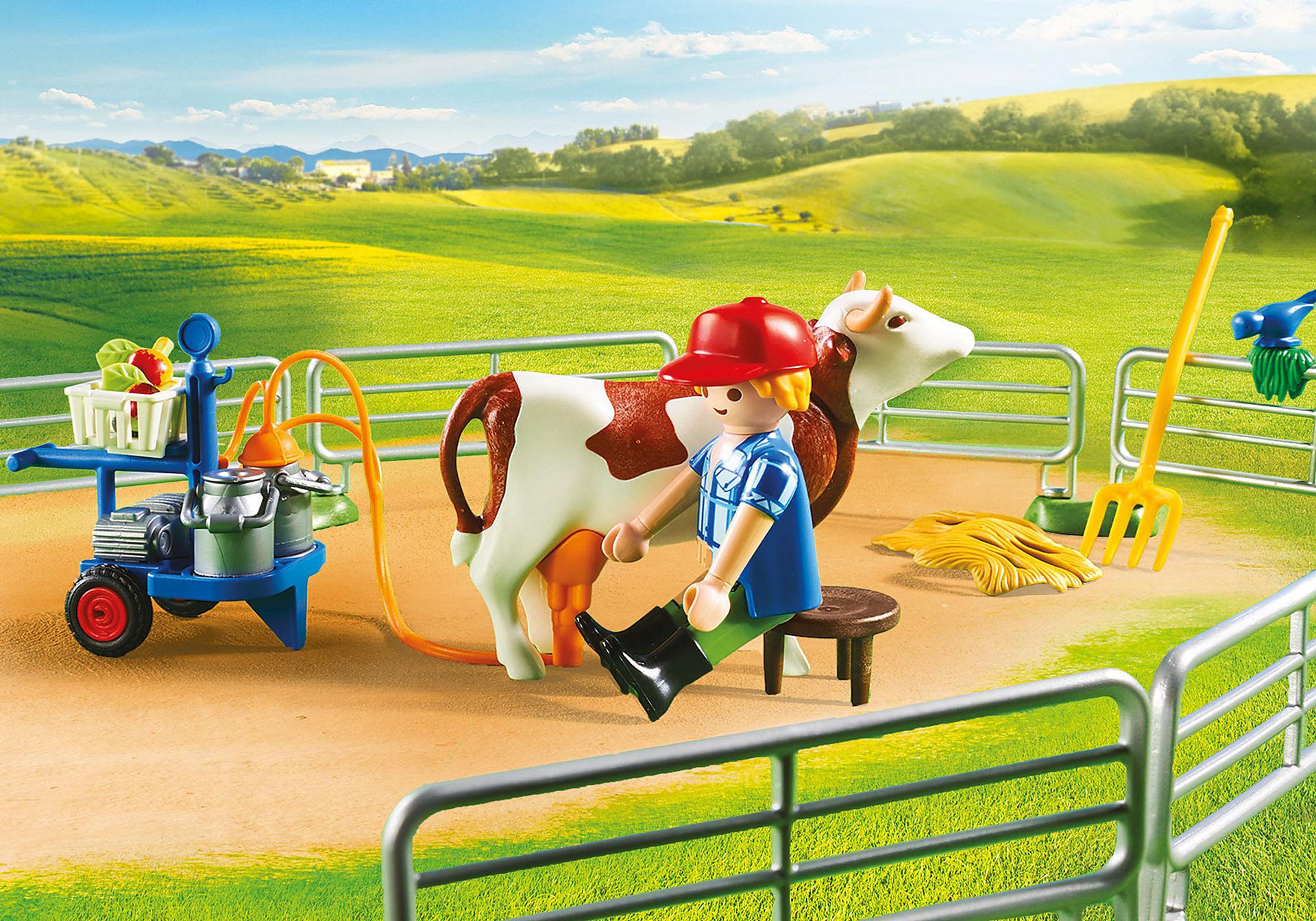 70132 Grande ferme avec silo et animaux zoom image5