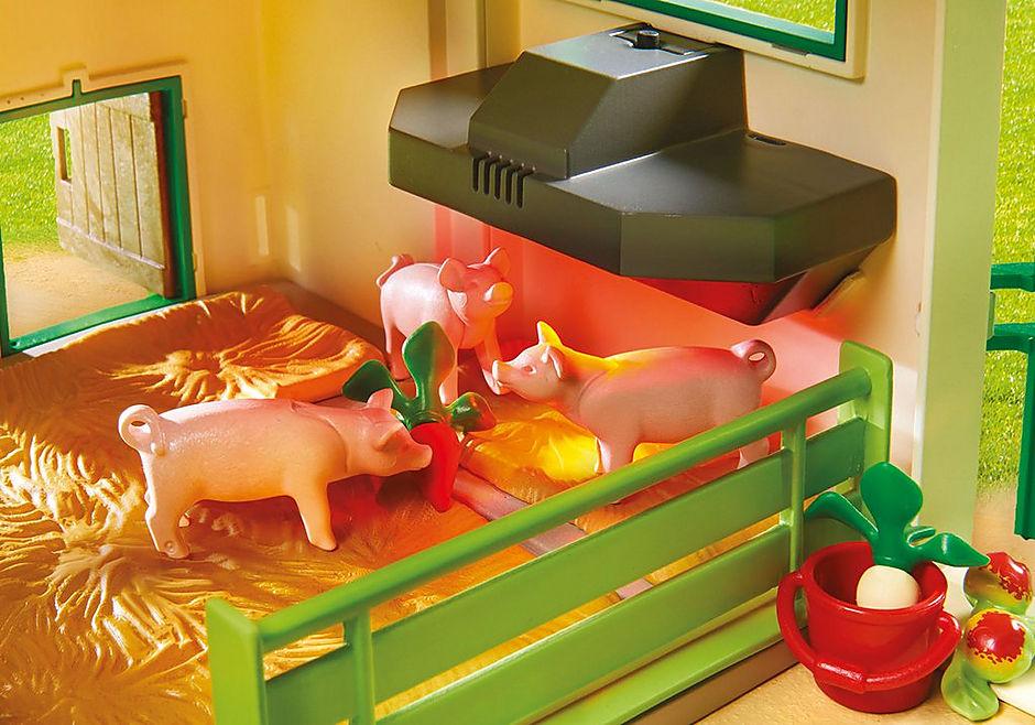 70132 Grande ferme avec silo et animaux detail image 6