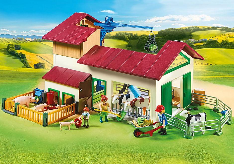 70132 Grande ferme avec silo et animaux detail image 7