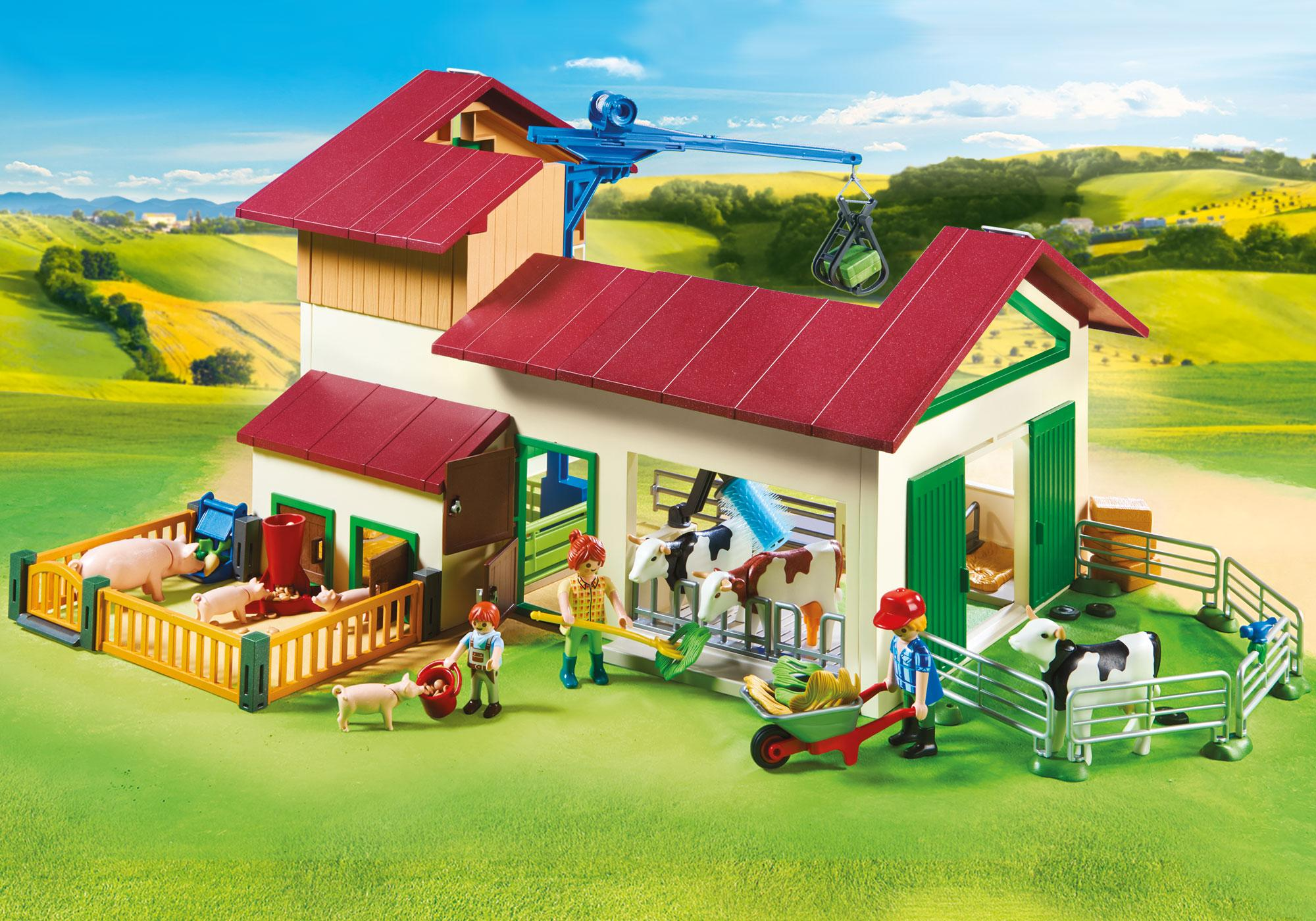 http://media.playmobil.com/i/playmobil/70132_product_extra4/Großer Bauernhof mit Silo