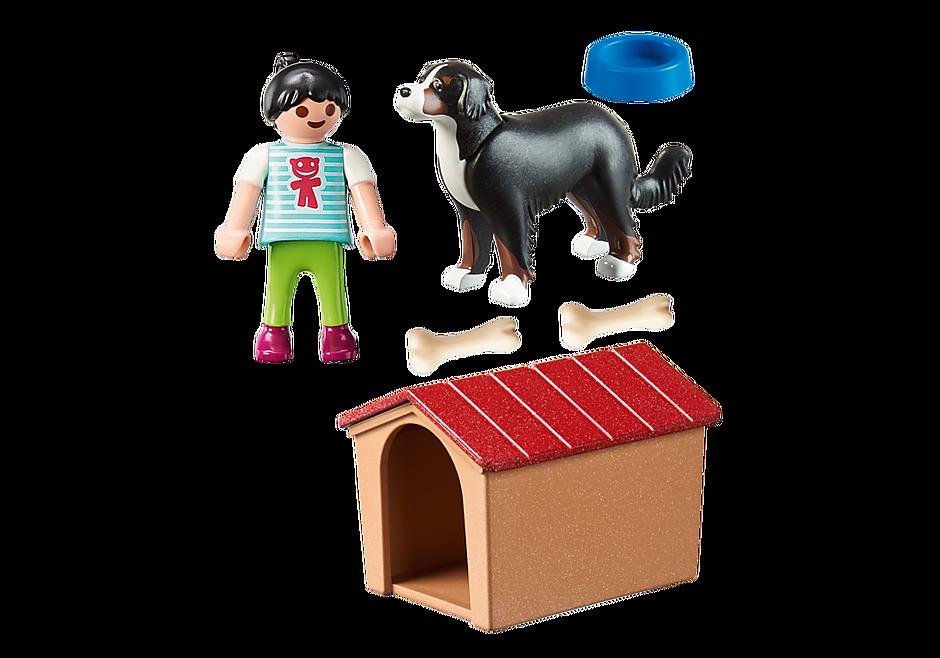 70136 Hund med hundehus detail image 3