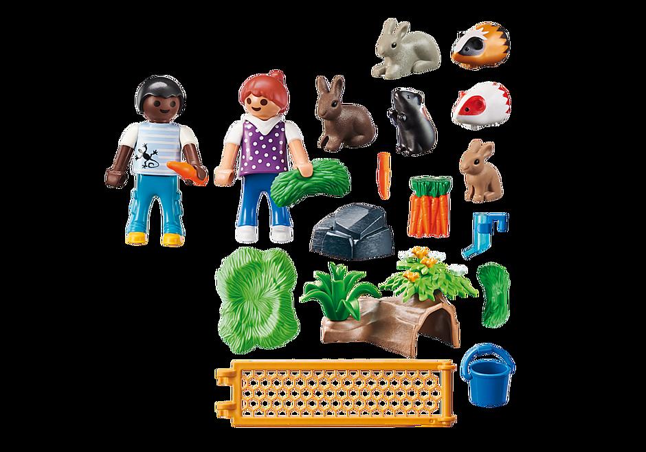 70137 Enfants avec petits animaux detail image 3