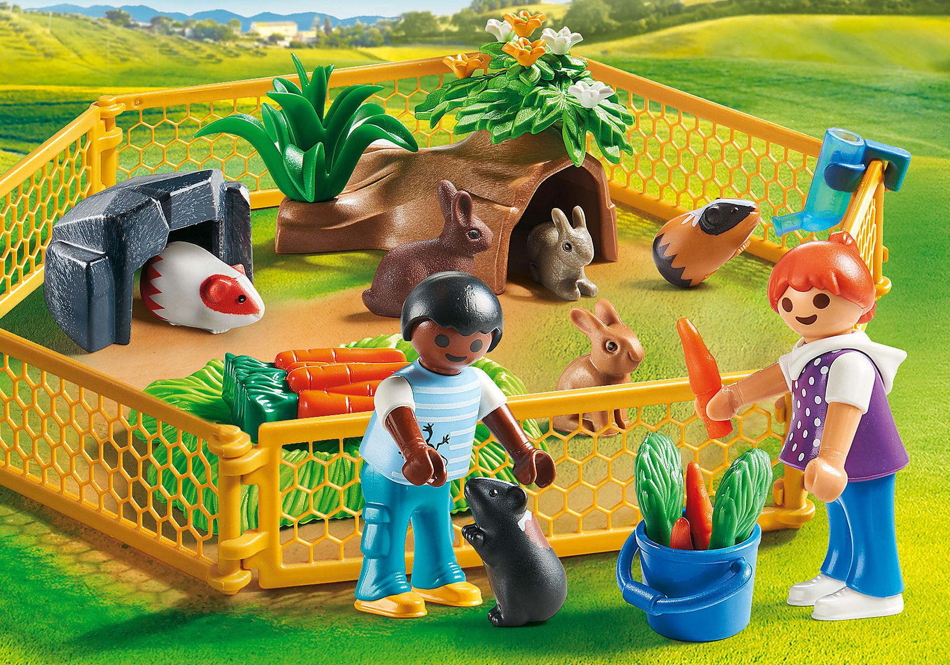 70137 Enfants avec petits animaux zoom image1