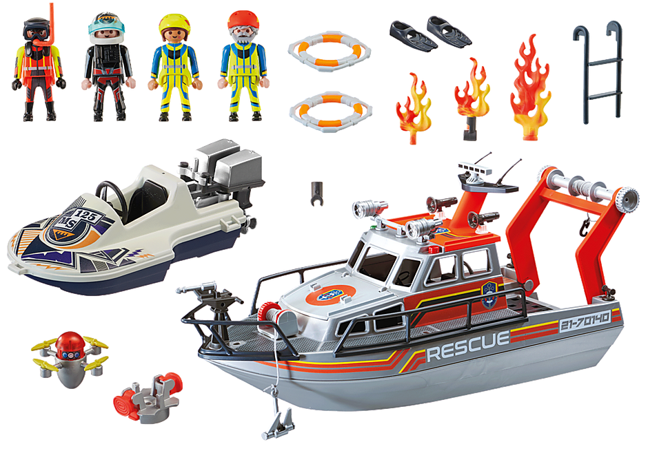 70140 Fire Rescue with Personal Watercraft detail image 3