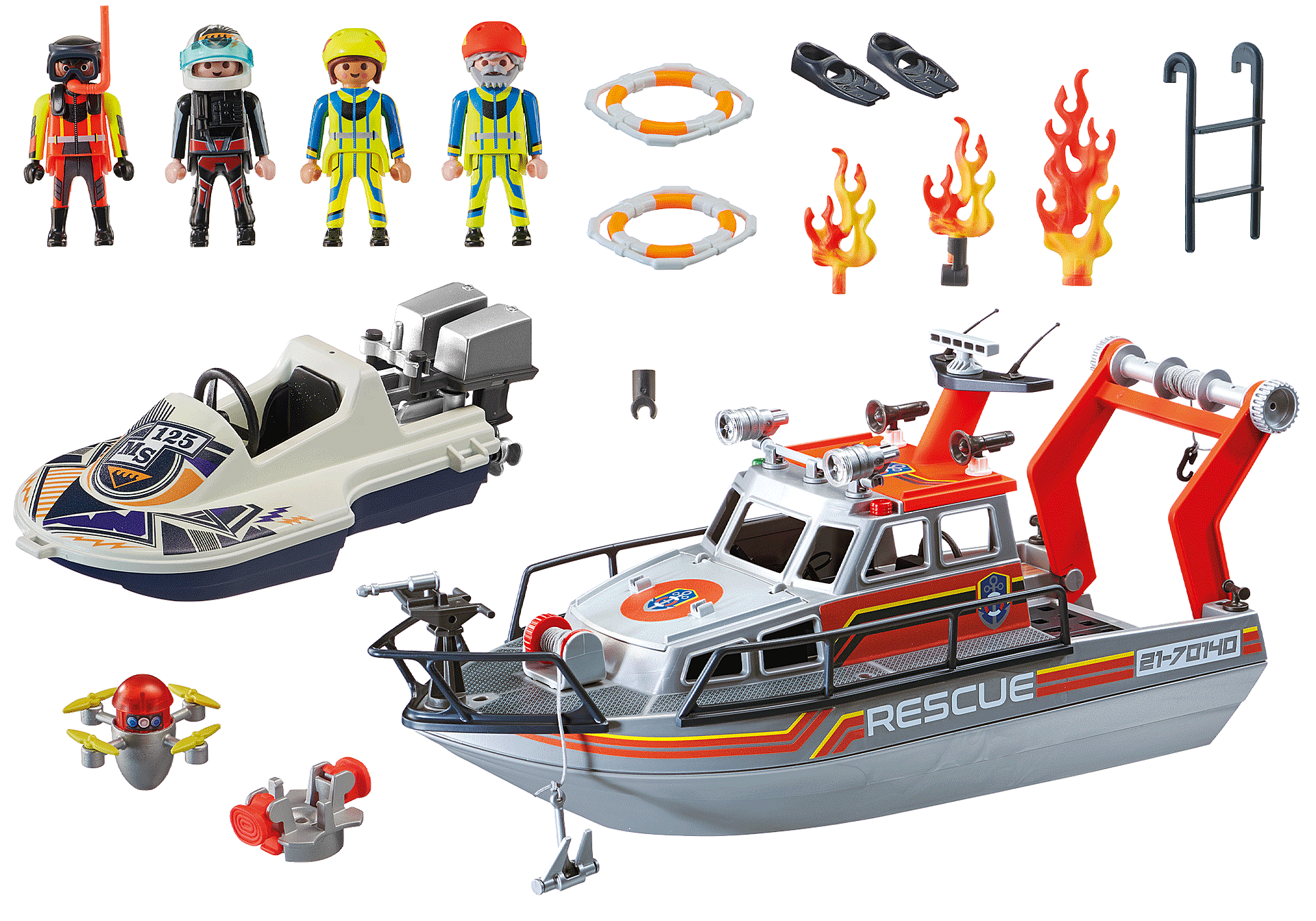 70140 Fire Rescue with Personal Watercraft zoom image3