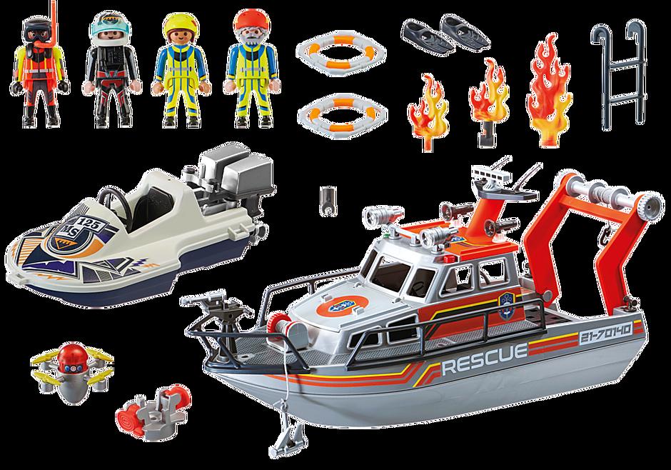 70140 Redding op zee: brandbestrijdingsmissie met reddingscruiser detail image 3