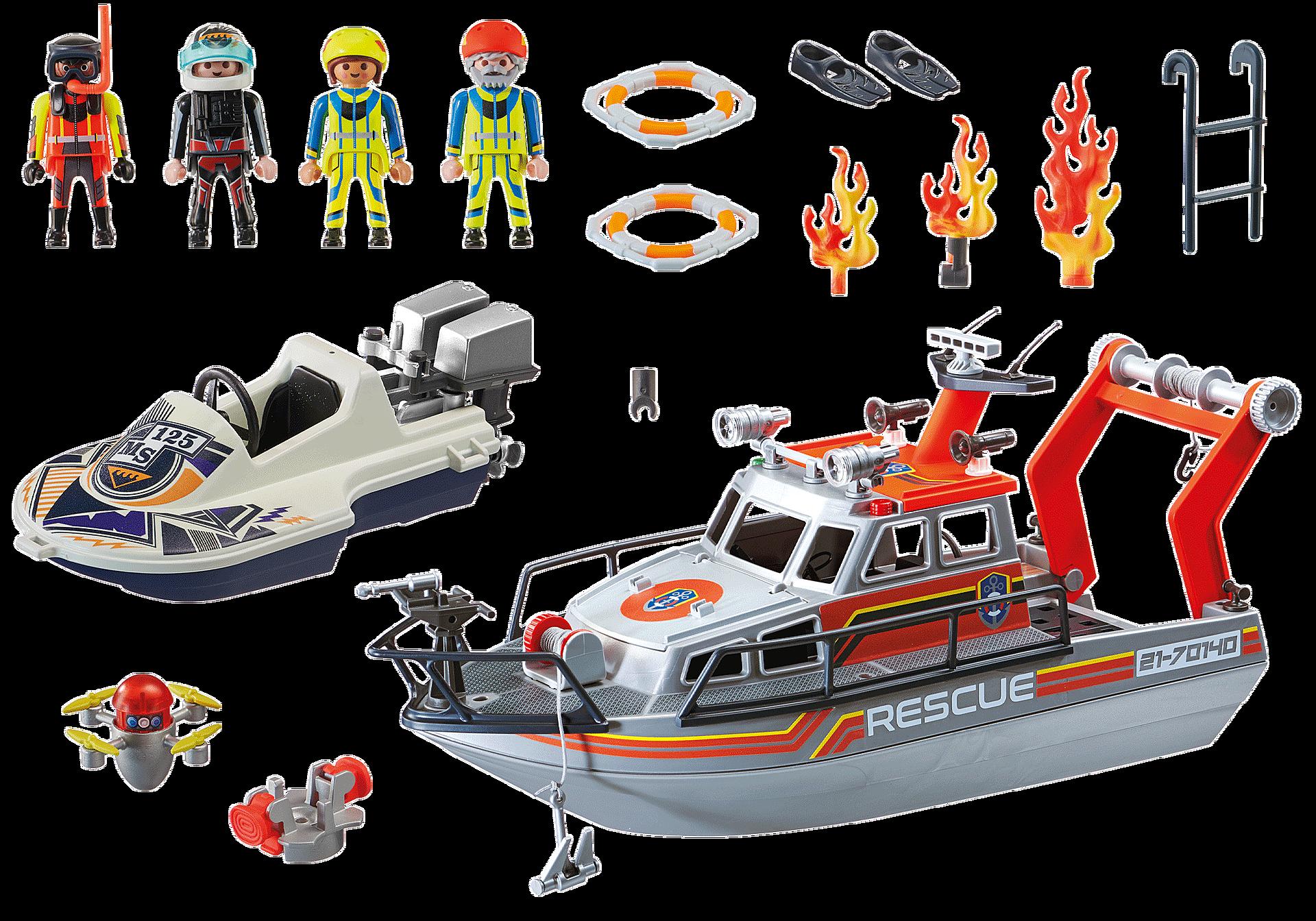 70140 Redding op zee: brandbestrijdingsmissie met reddingscruiser zoom image3