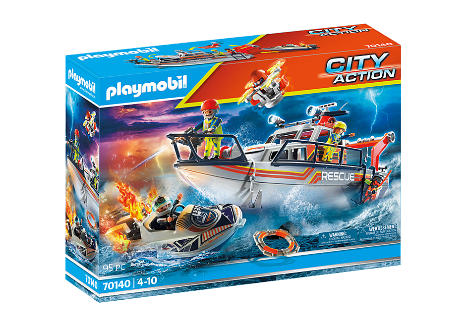 70140 Fire Rescue with Personal Watercraft detail image 2