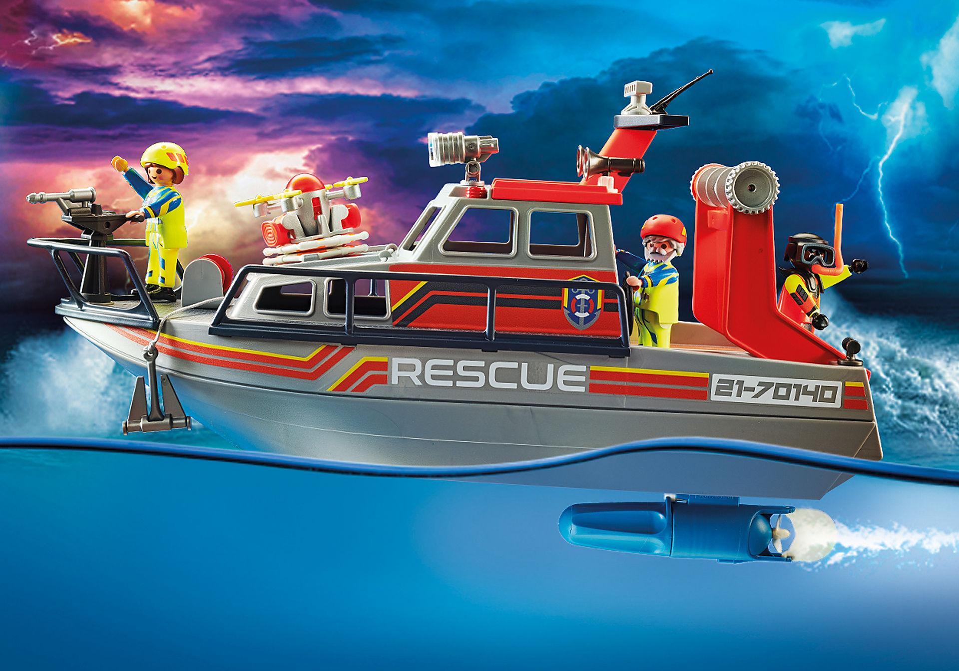 70140 Redding op zee: brandbestrijdingsmissie met reddingscruiser zoom image4