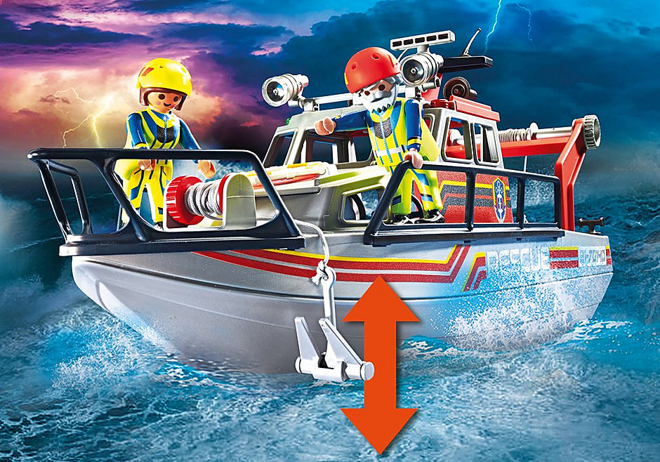 70140 Fire Rescue with Personal Watercraft detail image 5