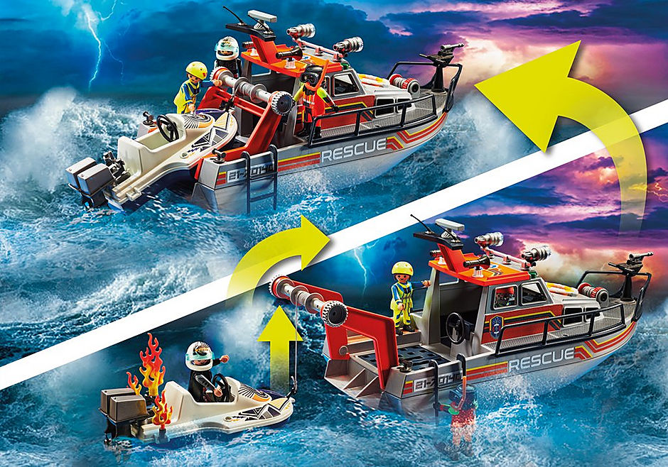 70140 Merihätä: Sammutusyksikkö ja pelastusalus detail image 8