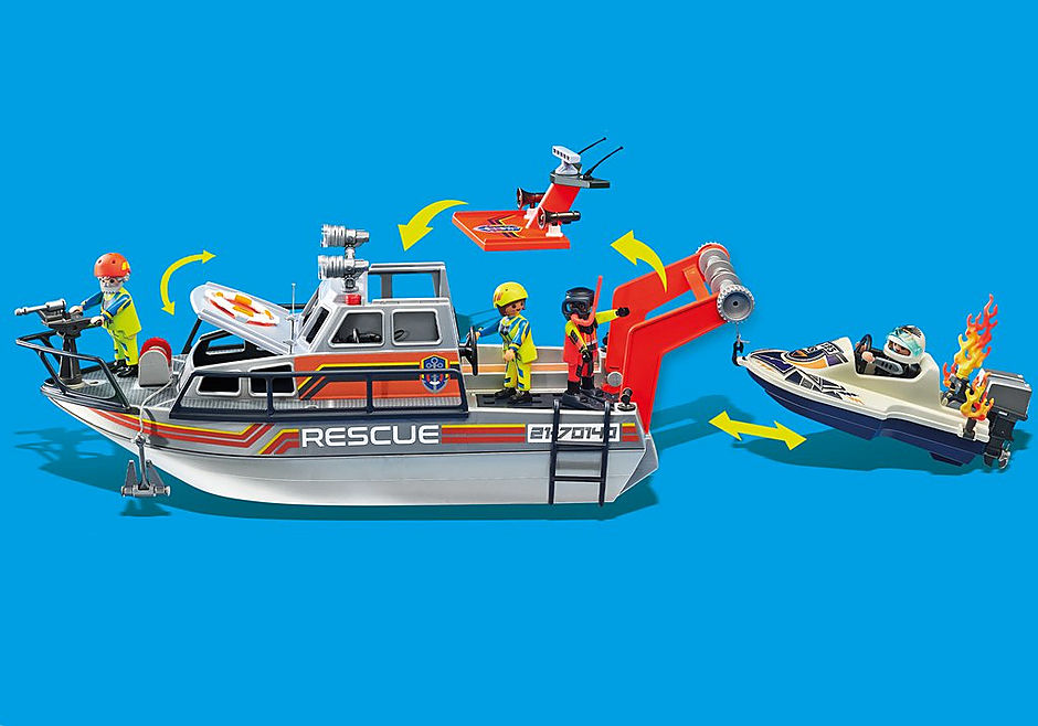 70140 Redding op zee: brandbestrijdingsmissie met reddingscruiser detail image 9