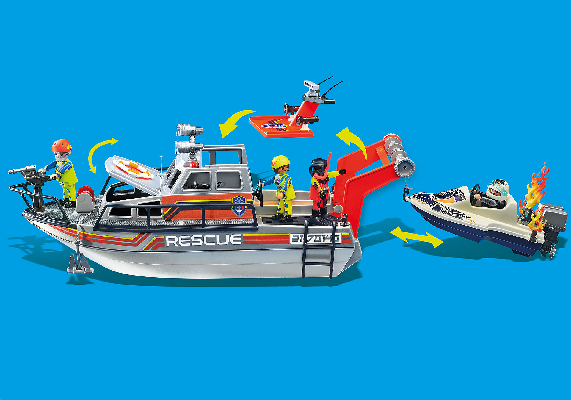 70140 Skibsredning: Slukningsudstyr med redningsbåd zoom image9
