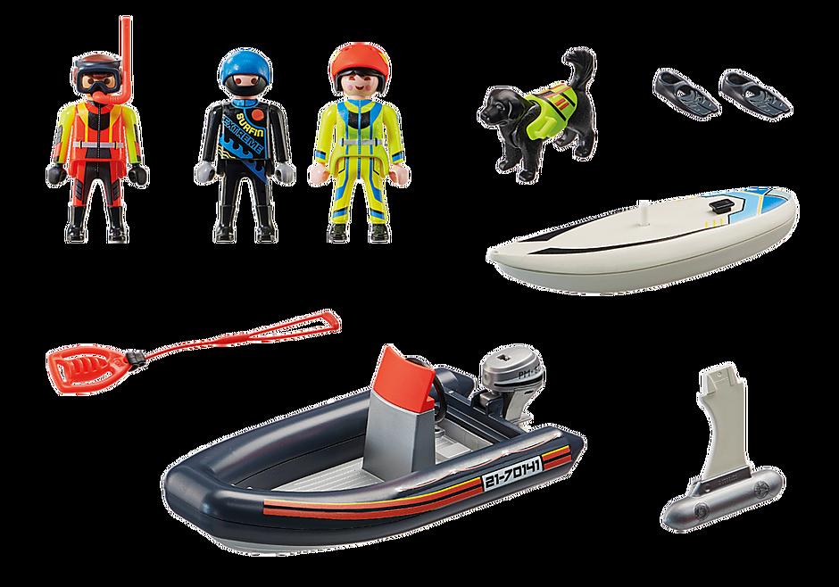 70141 Redding op zee: redding met poolzeiler met rubberen sleepboot detail image 3