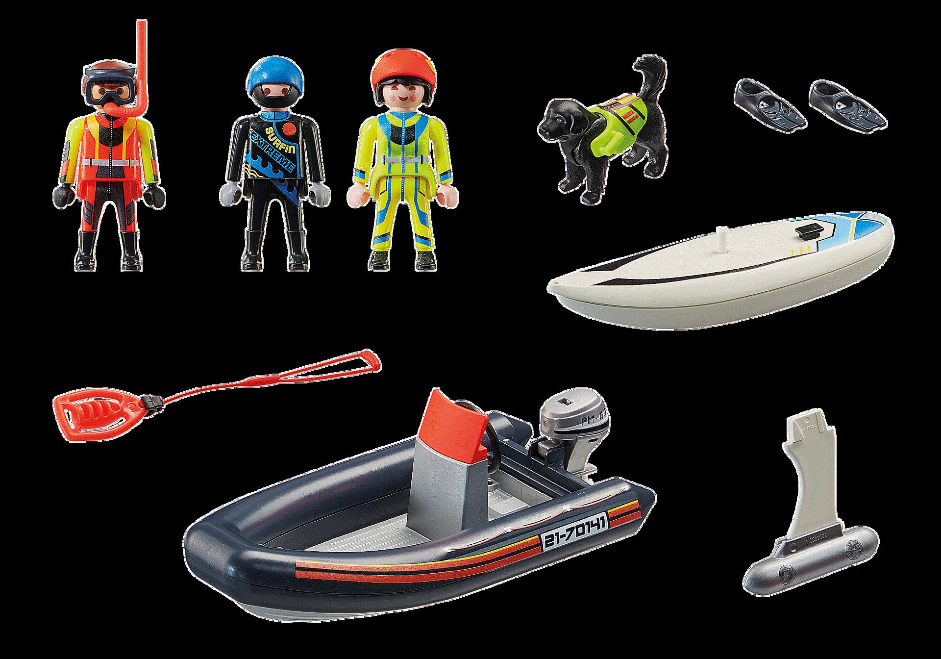 70141 Sjönöd: Polarräddare med gummibåt zoom image3