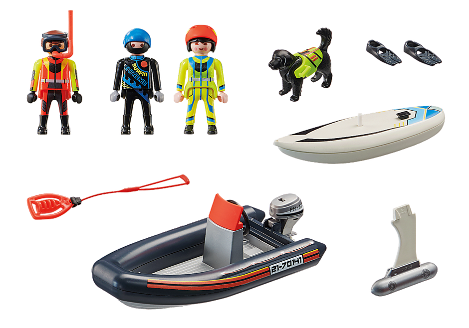 70141 Water Rescue with Dog detail image 3