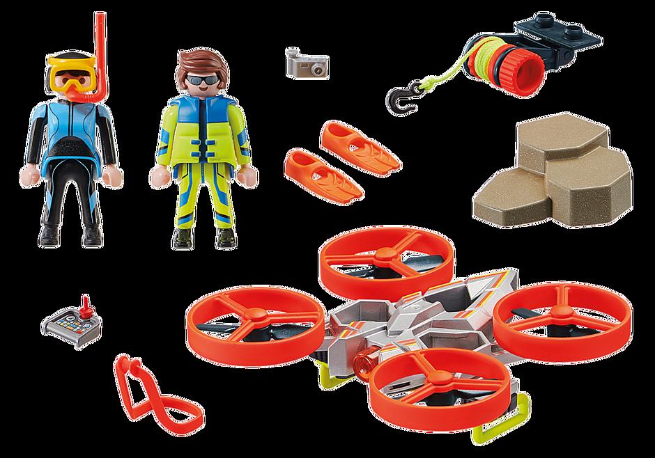 70143 Secouriste et drone detail image 3