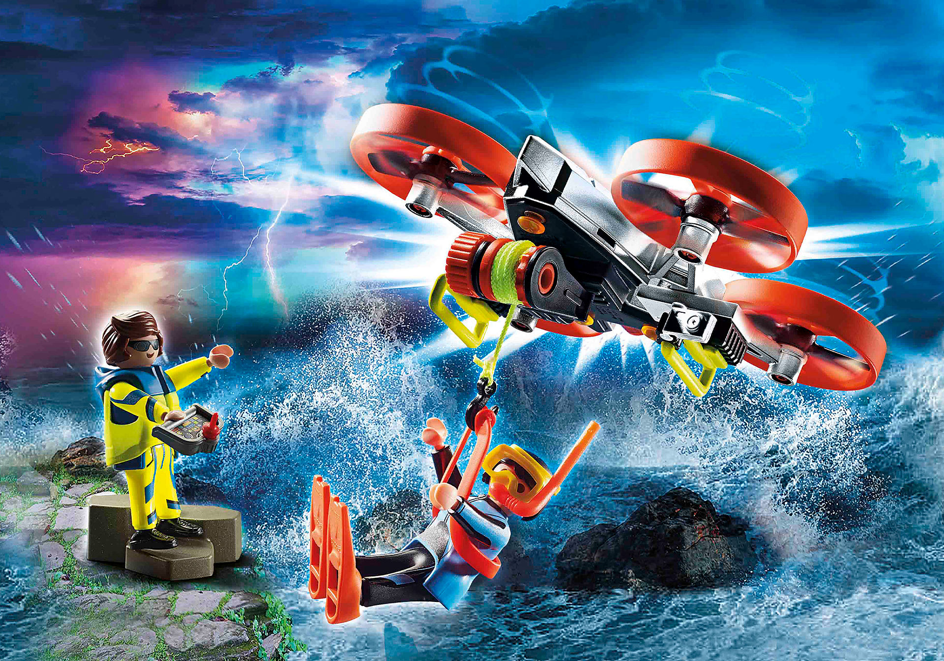 70143 Redding op zee: reddingsduiker met reddingsdrone zoom image1
