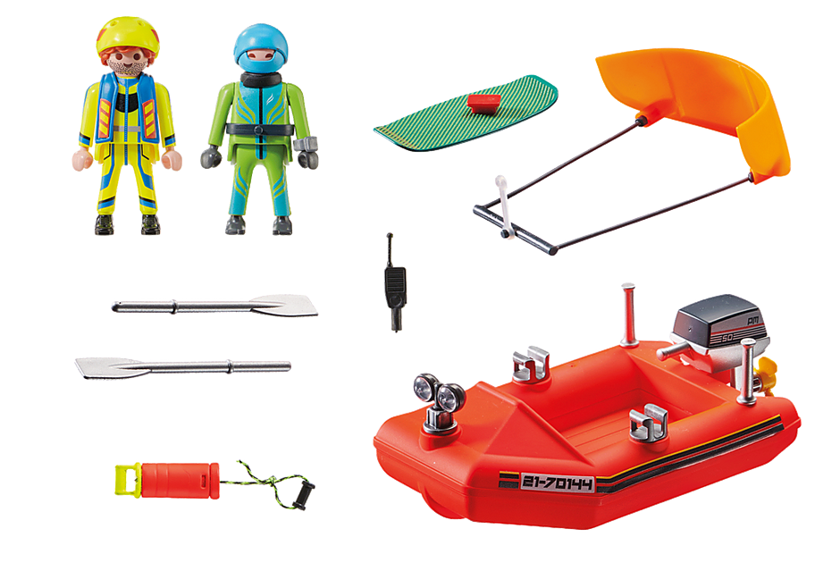 70144 Kitesurfer Rescue with Speedboat detail image 3