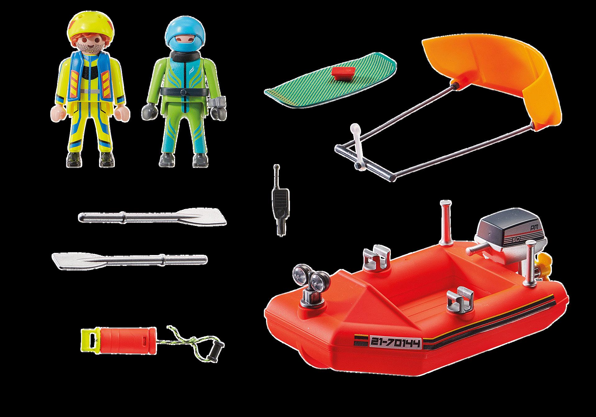 70144 Merihätä: Leijalautailijan pelastus veneellä zoom image3