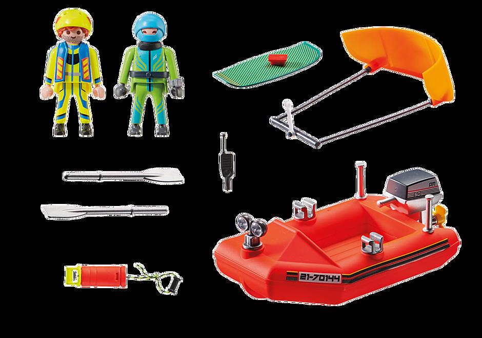70144 Redding op zee: kitesurfersredding met boot detail image 3