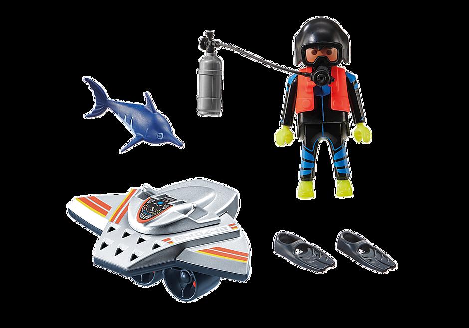 70145 Redding op zee: duikscooter in de reddingsmissie detail image 3