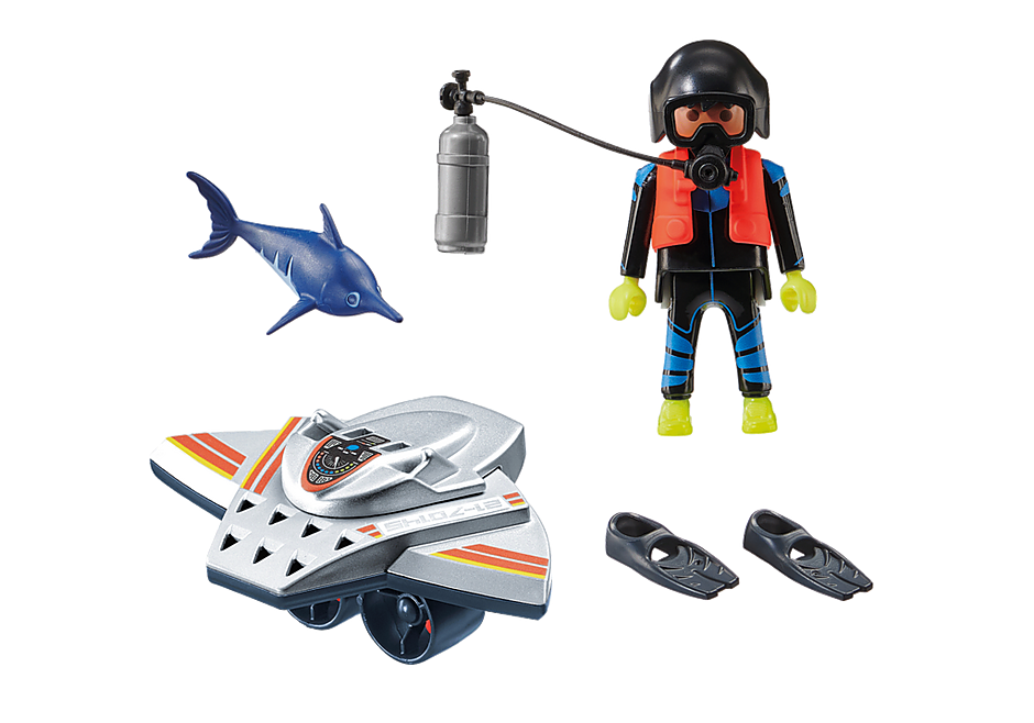 70145 Scooter de plongée et sauveteur  detail image 3