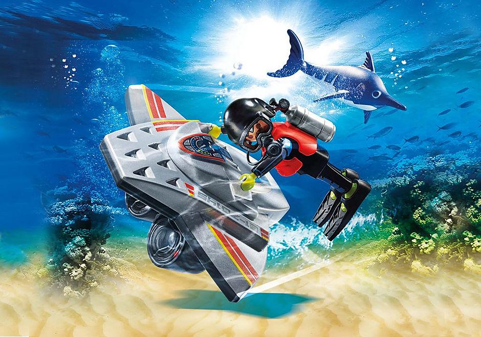 70145 Redding op zee: duikscooter in de reddingsmissie detail image 1