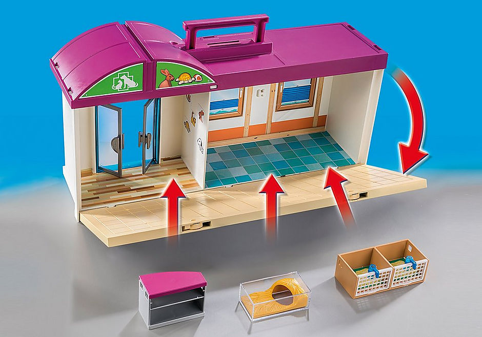 http://media.playmobil.com/i/playmobil/70146_product_extra2/Veterinärklinik att ta med