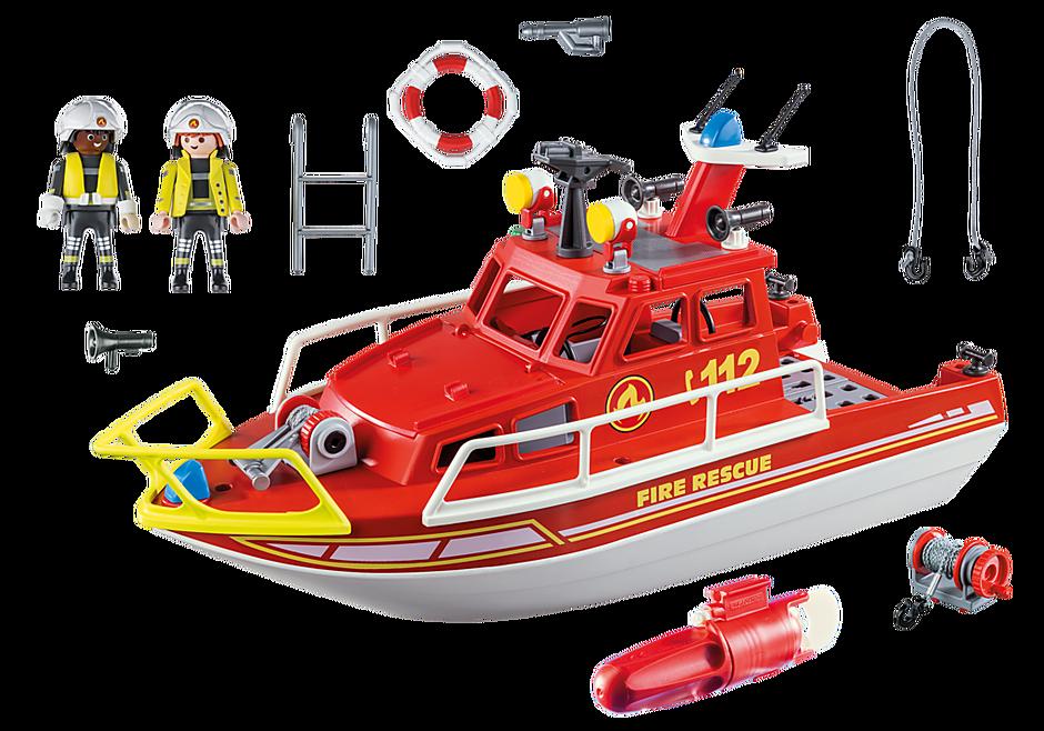 70147 Bateau de sauvetage et pompiers detail image 3