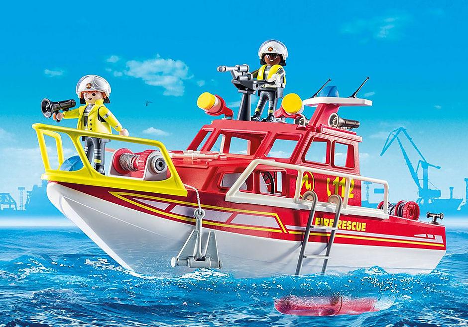70147 Bateau de sauvetage et pompiers detail image 1